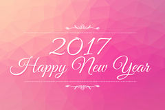 Happy New Year 2017 word on triangles low poly background Stock Image