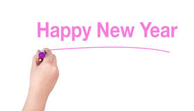 Happy New Year word Stock Photography