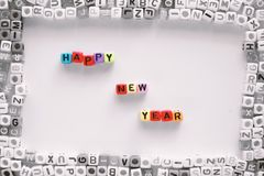 HAPPY NEW YEAR wording Stock Photo