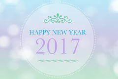 Happy New Year 2017 words on bokeh background. Happy New Year 2017 words on abstract bokeh background Vector Illustration