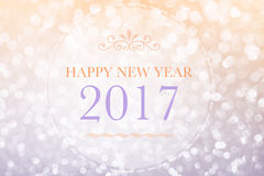 Happy New Year 2017 words on bokeh background. Happy New Year 2017 words on abstract bokeh background Stock Illustration