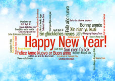 Happy New Year Words cloud Stock Photos