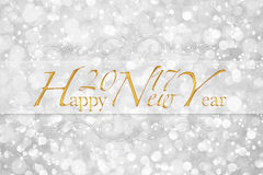 Happy New Year 2017 words on glitter bokeh background Stock Photos