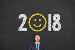 Happy New Year 2018. New year working Stock Photos