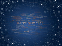 Happy new year world languages Royalty Free Stock Photos