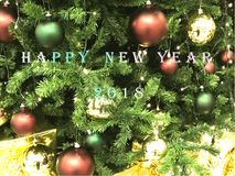 Happy New Year 2018 in World. Word cloud of the Happy New Year 2018. Celebration in the all world Stock Photos