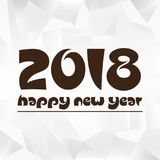 Happy new year 2018 on wrinkled paper low polygon background eps10. Happy new year 2018 on wrinkled paper low polygon background Royalty Free Stock Images