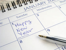 Happy New Year written on 1st January. Royalty Free Stock Photography