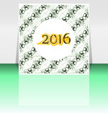 Happy new year 2016 written on abstract  flyer or brochure Royalty Free Stock Photos