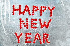 Happy New Year written by berries Stock Photo