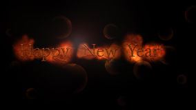 Happy new year written. Black background Royalty Free Illustration