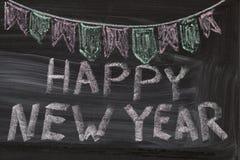 Happy New Year written on blackboard Royalty Free Stock Photo