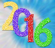 Happy New Year 2016. Written in color Stock Illustration