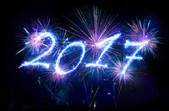 Happy New Year 2017 - Written Royalty Free Stock Photography