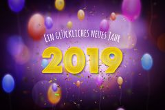Happy New Year 2019 in German