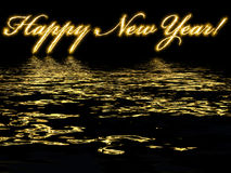 Happy New Year-written with reflection in water Stock Images