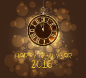 Happy new year 2016 written with Sparkle firework Royalty Free Stock Photos
