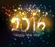 Happy new year 2016 written with Sparkle firework Royalty Free Stock Photo