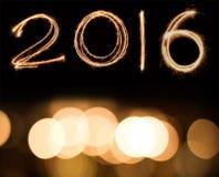 Happy new year 2016 Stock Image