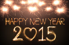 Happy new year. 2015 written with Sparkling figures Royalty Free Stock Images