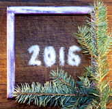 Happy new year 2016 written sugar Stock Images