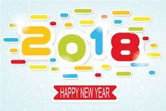 2018 happy new year written. For web Royalty Free Stock Photography