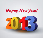 Happy New Year and xmas. Vector color Happy New Year and xmas greeting card Stock Photography