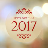 Happy New Year 2017 year on abstract blur festive bokeh backgrou. Nd, banner, new year card Stock Images