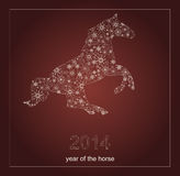 Happy new year 2014. Year of the horse.Vector Royalty Free Stock Image