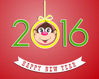Happy New Year 2016 year of the monkey. Vector illustration design elements Royalty Free Stock Photos