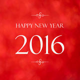 Happy New Year 2016 year on red blur background Stock Photos