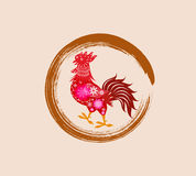 Happy New Year 2017 year of rooster. Vector Stock Photos