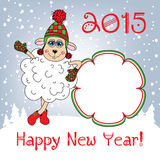 Happy new year 2015. Year of the Sheep. Template. Royalty Free Stock Images