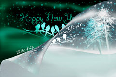 Happy new year 2014. New years cards happy new year 2014 happy holiday Royalty Free Illustration