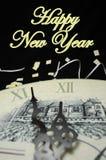 Happy New Year. S Eve Celebration Countdown Clock Stock Photo