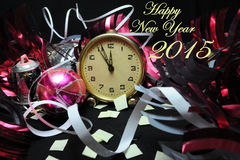 Happy New Year 2015. Happy New Years Eve Celebration Countdown Clock Stock Images