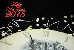 Happy New Year 2015. Happy New Years Eve Celebration Countdown Clock Royalty Free Stock Image