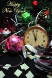 Happy New Year. S Eve Celebration Countdown Clock Royalty Free Stock Photo