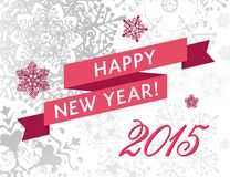 Happy new yearr 2015 card Royalty Free Stock Photography