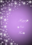Happy new years. Violet background with text happy new years Royalty Free Stock Photo