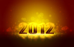 Happy New Years 2012. Happy New Years in 2012 vector illustration