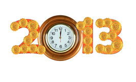 Happy New Years 2013 (Include clipping paths) Royalty Free Stock Photos
