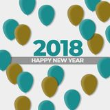 New Years 2018 Ball Design Holiday. Happy New Years 2018 Ball Design Holiday , High Resolution 300Dpi Stock Photos