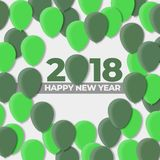 Happy New Years 2018 - 2017  Balloon Design Holiday. Happy New Years 2018 Balloon Design Holiday Stock Photography