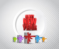 Happy new years card illustration design Stock Photography