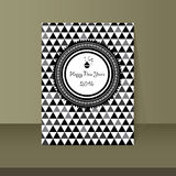 Happy new years card vintage design. Vector happy new years card vintage design Stock Photo