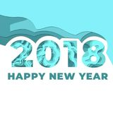 Happy New Years 2018 Celebration. Awesome design for Happy new year Royalty Free Stock Photos
