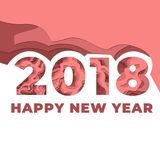 Happy New Years 2018 Celebration. Awesome design for Happy new year Stock Photos