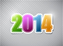 Happy new years 2014 colorful card illustration Royalty Free Stock Images