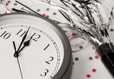 Happy New Years Eve Celebration Countdown Clock Stock Image